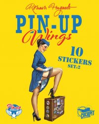 Pin-up wings - pochette stickers set 2