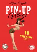 Pin-up wings - pochette stickers set 1